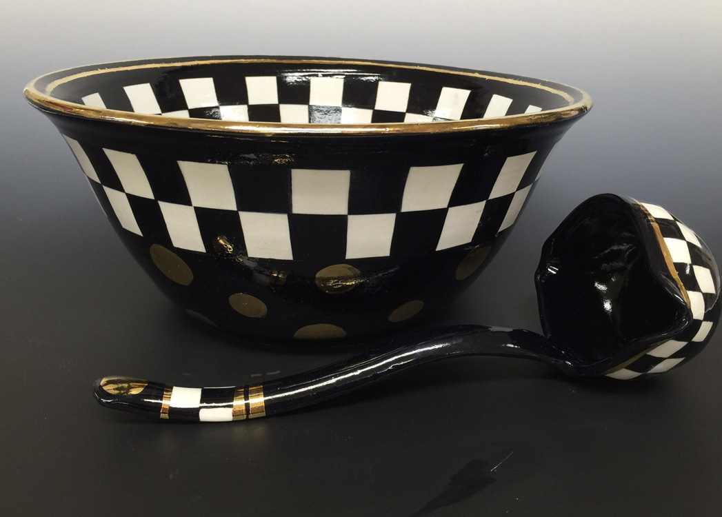 Baker Aircraft Punchbowl and Ladle