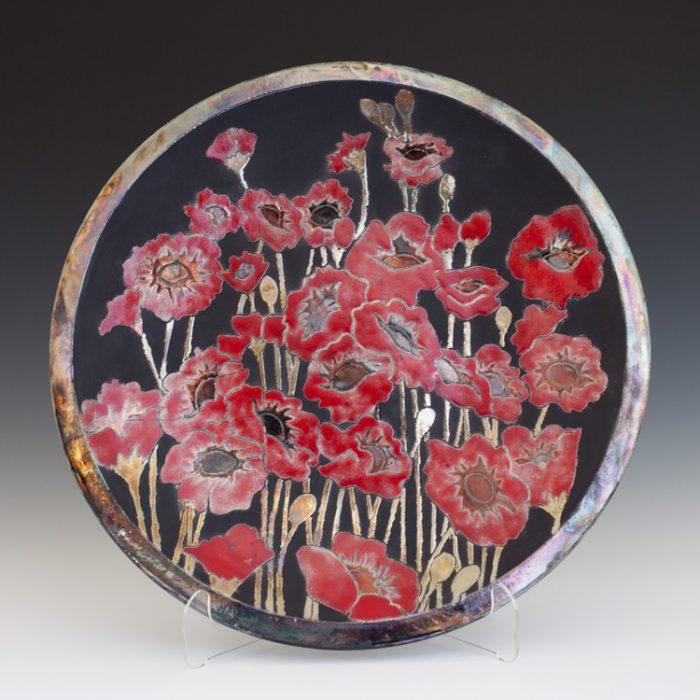 Poppy Platter - Raku