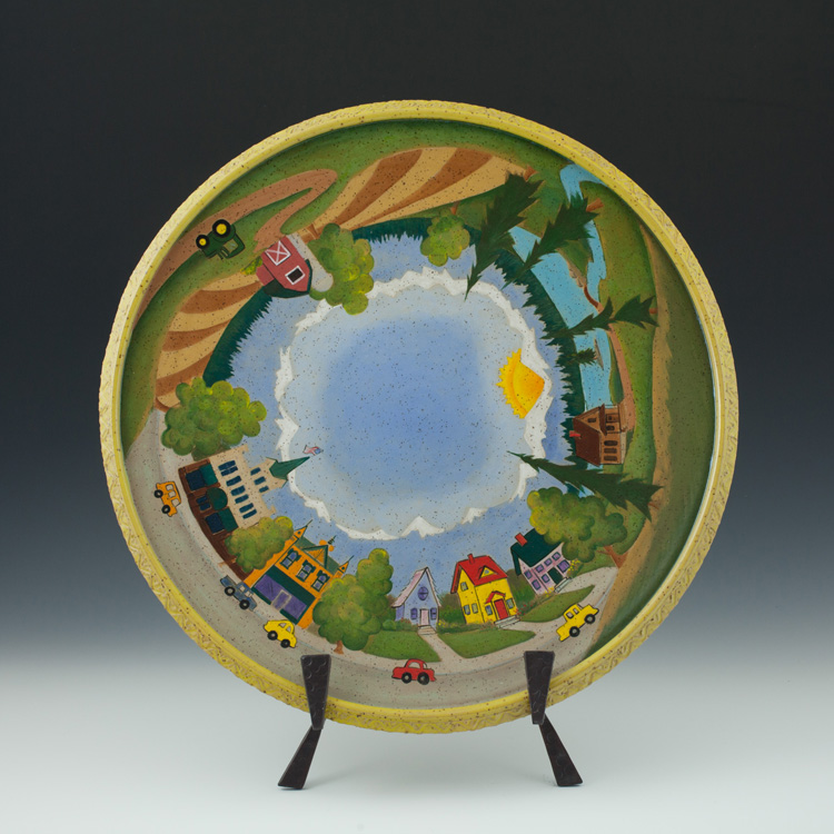 Town and Country Platter - Stoneware