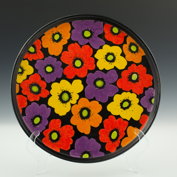 Stoneware Floral Platter