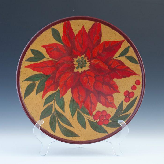 Raku Poinsettia Platter 4