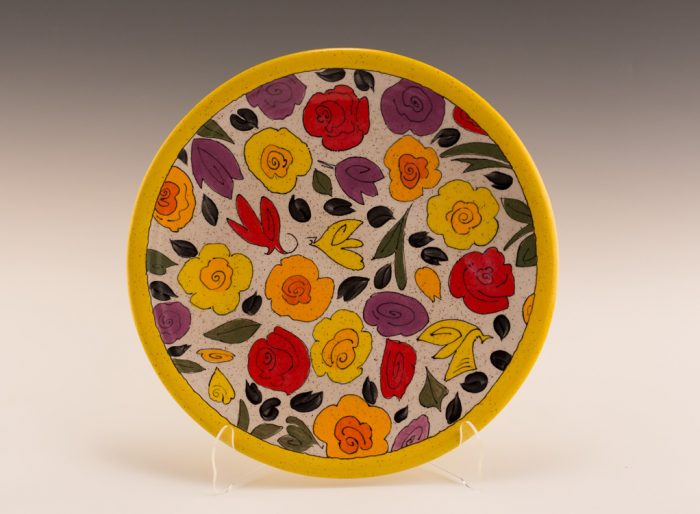 Floral Platter Stoneware